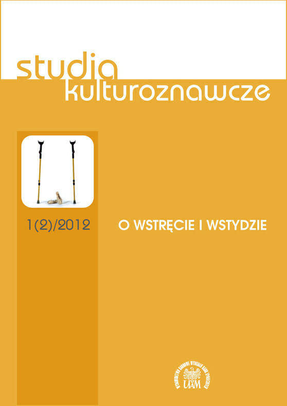 Studia Kulturoznawcze nr 1(2)/2012 - O wstręcie i wstydzie - Kulturoznawstwo UAM